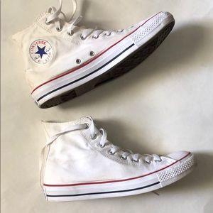 Converse White high tops!!